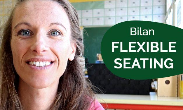 Bilan de mon expérience classe FLEXIBLE SEATING (4/4)