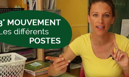 Les postes de professeur des écoles au troisième mouvement