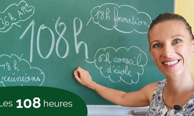 Les 108 heures pour les professeurs des écoles