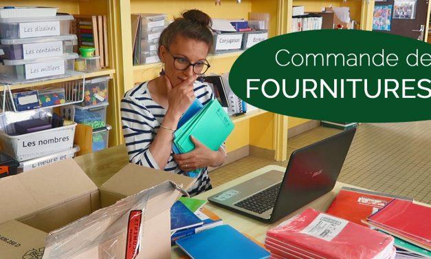 Fournitures scolaires pour ma classe – Commande 2019